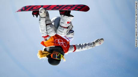 Kim takes flight during one of her three runs Tuesday. (Ramsey Cardy/Sportsfile/Getty Images)