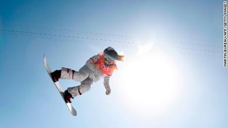 Kim became the first female to land consecutive 1080s on an Olympic halfpipe. (Martin Bureau/AFP/Getty Images)