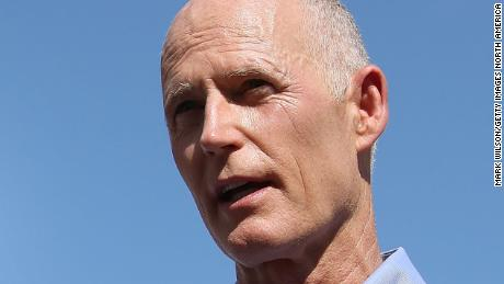 PARKLAND, FL - FEBRUARY 15: Florida Governor Rick Scott (R), Broward County Superintendent of Schools, Robert W. Runcie (C) and Broward County Sheriff, Scott Israel (L) speak to the media about the mass shooting at Marjory Stoneman Douglas High School where 17 people were killed yesterday, on February 15, 2018 in Parkland, Florida. Police arrested the suspect after a short manhunt, and have identified him as 19 year old former student Nikolas Cruz.  (Photo by Mark Wilson/Getty Images)