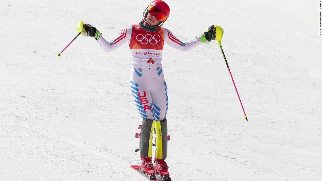 2014 champ Shiffrin finishes fourth in Olympic slalom