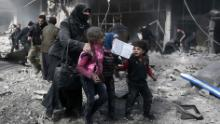 Dozens of people were killed in Syrian airstrikes, a human rights group says