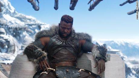 Marvel Studios' BLACK PANTHER Center: M'Baku (Winston Duke) Ph: Film Frame  ©Marvel Studios 2018