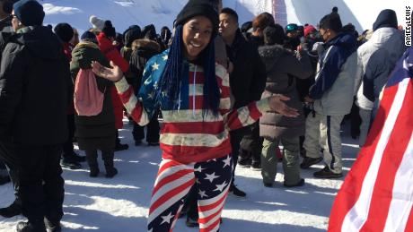 Angela Wilson is at her first Winter Olympics.