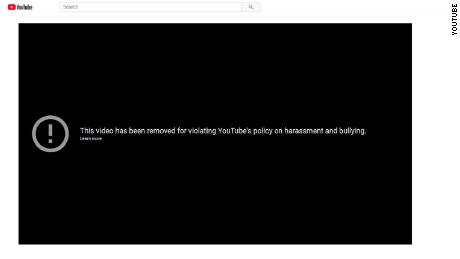 YouTube has removed the video