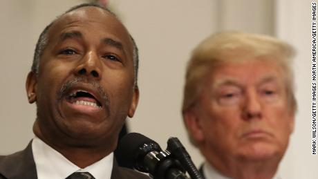 HUD Secretary Dr. Ben Carson speaks before U.S. President Donald Trump signed a proclamation to honor Martin Luther King, Jr. day, in the Roosevelt Room at the White House, on January 12, 2018 in Washington, DC. Monday January 16 is a federal holiday to honor Dr. King and his legacy.  (Photo by Mark Wilson/Getty Images)
