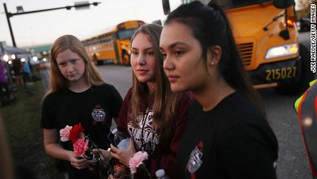 Marjory Stoneman Douglas students return to school two weeks after a mass shooting at the school