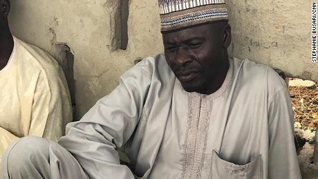 Alhaji Deri, pictured, said his daughter Aisha was taken in the Boko Haram raid.