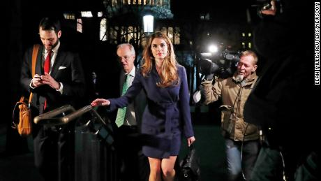 White House Communications Director Hope Hicks leaves after attending the House Intelligence Committee closed door meeting at the U.S. Capitol in Washington, U.S., February 27, 2018. REUTERS/Leah Millis (Newscom TagID: rtrlnine678545.jpg) [Photo via Newscom]