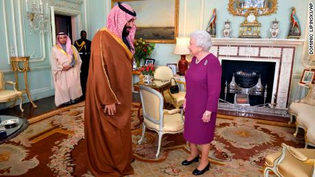 Saudi crown prince meets banking bosses in London