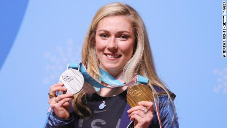 Mikaela Shiffrin won gold and silver in the Winter Olympics in Pyeongchang in February.