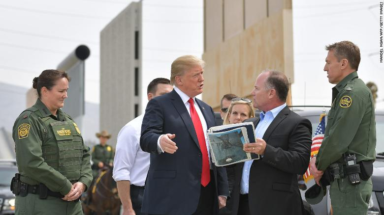 Trump wants military to secure border with Mexico until wall is built