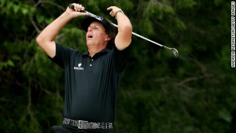 The US Open is Mickelson's nemesis after a record six runner-up spots.