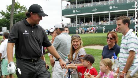 Mickelson is hugely poular with fans, young and old.