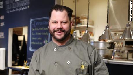 Chad Houser turned his non-profit restaurant space into an emergency food distribution center.