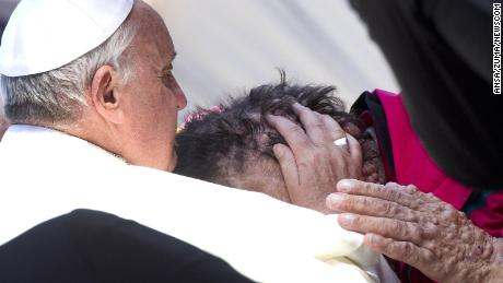 Millions were moved when Francis embraced a disfigured man in 2013.