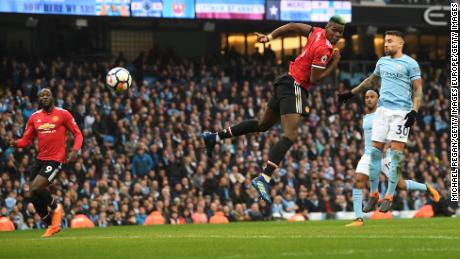 Paul Pogba's second goal came from a brilliant header.