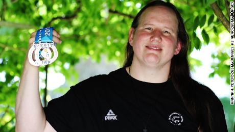 Hubbard poses with her World Championship silver medals in Auckland, New Zealand.