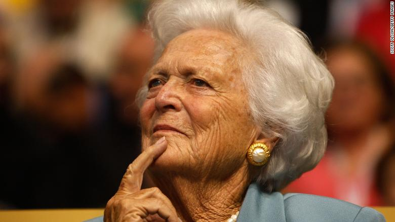 Former first lady Barbara Bush in 'failing health', says family spokesman