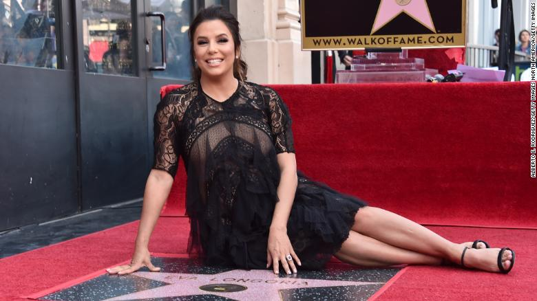 HOLLYWOOD, CA - APRIL 16:  Eva Longoria attends a ceremony honoring her with the 2,634th Star on the Hollywood Walk of Fame on April 16, 2018 in Hollywood, California.  (Photo by Alberto E. Rodriguez/Getty Images)
