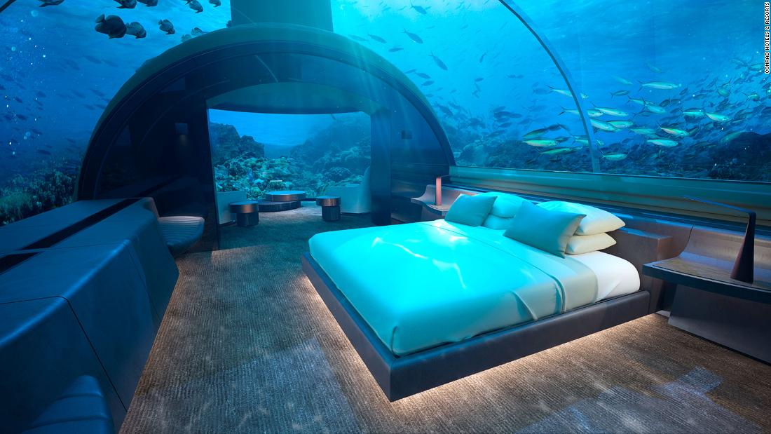 Photos reveal new luxury underwater hotel residence in the Maldives