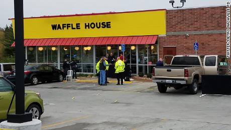 & # 39; s it & # 39;: The woman spot suspicious shooter of Waffle House on construction site
