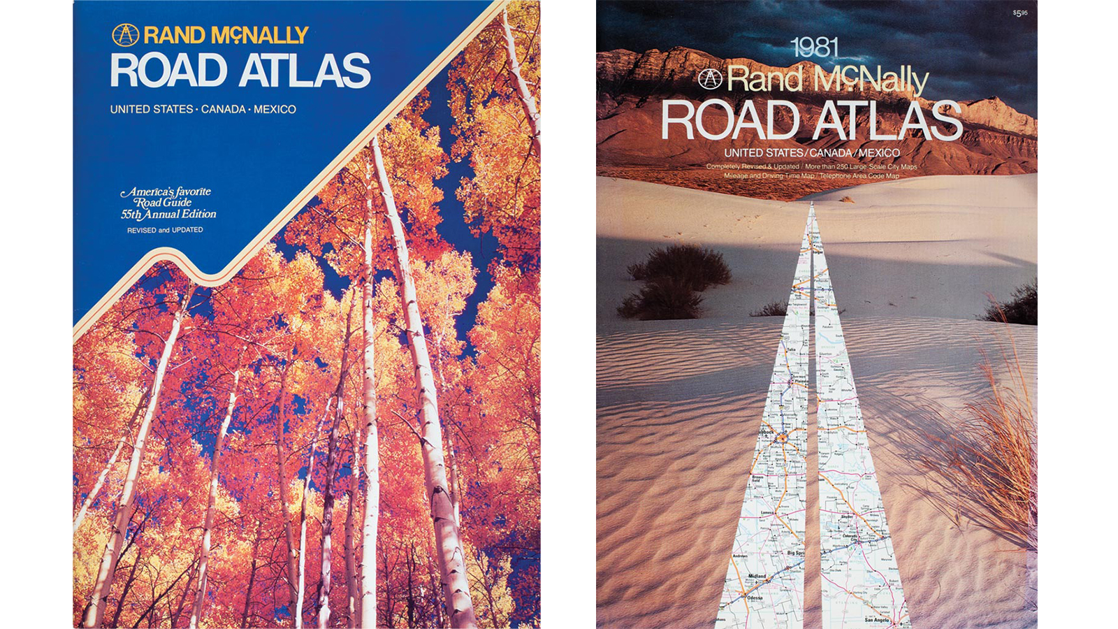 Rand McNally vintage atlases map the great American road ... on
