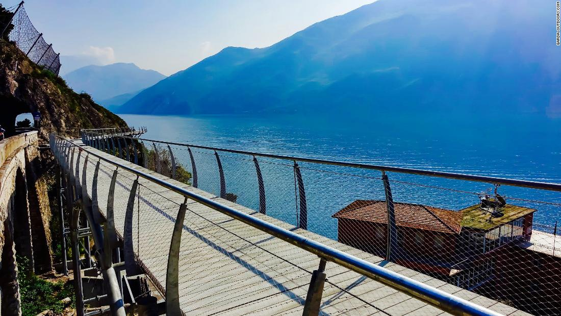 Photos reveal Lake Garda's incredible new bike route