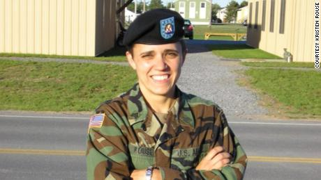 Kristen Rouse at Fort Drum in New York in 2005