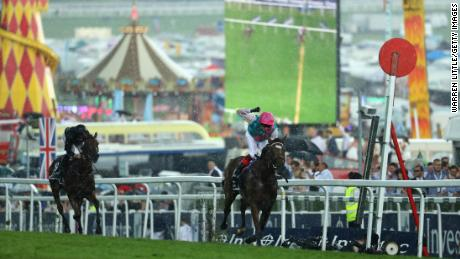 Frankie Dettori and Enable won the Oaks in record time in 2017.