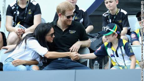Harry and Meghan made their first public appearance together at the Invictus Games in Canada last year.