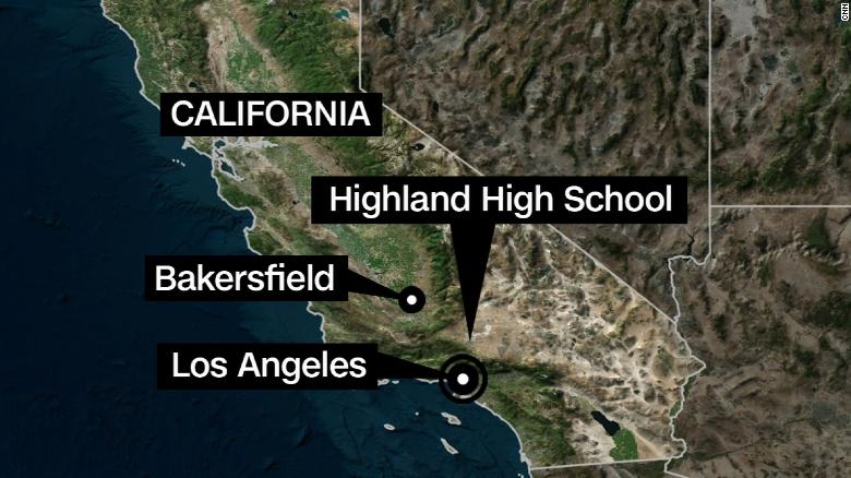 Student shot in arm at California school, teen suspect held