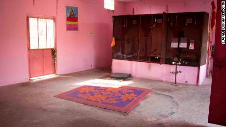 Inside the Hindu temple in Rasana village.