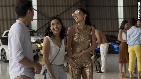 """A scene from """"Crazy Rich Asians,"""" the highest-grossing romantic comedy of the decade."""