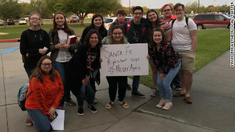 In April, they walked out to protest school shootings. Today, they were victims of one