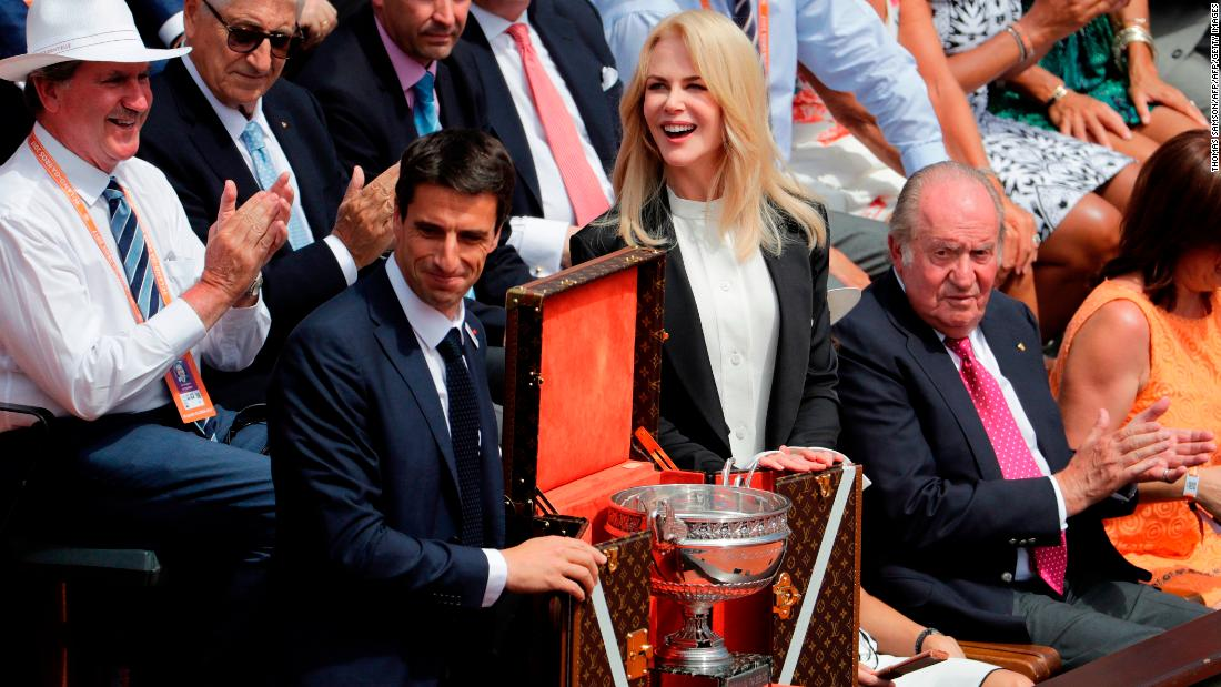 Famous faces are fixtures in the stands at Roland Garros. Last year actress Nicole Kidman took in the men's final.