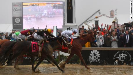Justify wins Preakness Stakes as quest for Triple Crown continues