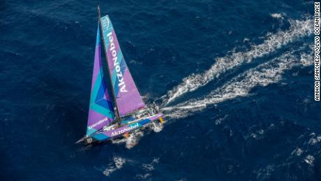 Team AkzoNobel is helping scientists gather water quality data during the Volvo Ocean Race.
