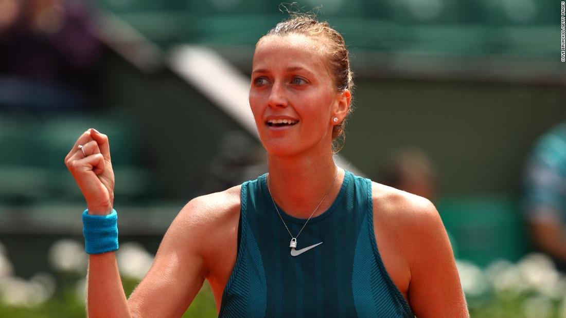 """A year on from her return from a knife attack in her own home, Petra Kvitova tells CNN she is living """"a dream."""" The Czech star, a two-time Wimbledon champion, has yet to reach the final in Paris but escapes on day two after losing the first set."""