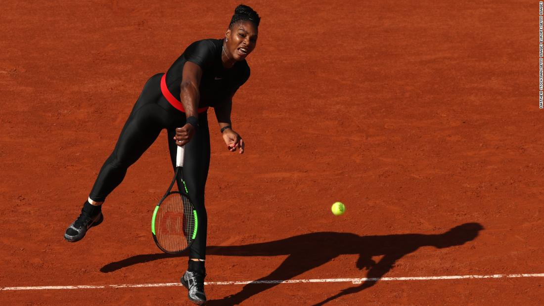 Maybe some of those famous faces watched Serena Williams on Tuesday. Williams won as she returned to grand slams after becoming a mum last year.