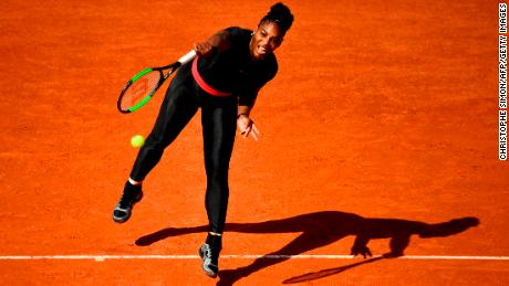 Serena Williams wore a black catsuit in Paris the French Open in May.