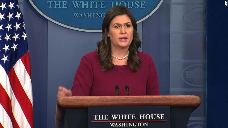 Sarah Huckabee Sanders Chokes Up at Student's Question on Shootings