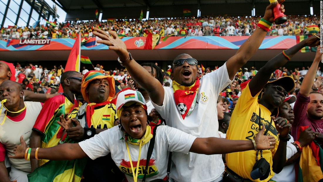 Ghanians celebrate a 2-0 victory over the Czech Republic at the 2006 World Cup in Germany- statistically one of the biggest shocks in World Cup history. Here is a list of the top five World Cup upsets based on data company Gracenote's analysis alon