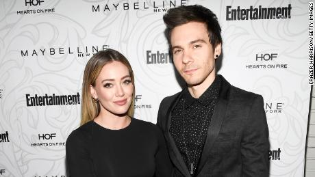 Matthew Koma (right) honored his wife Hilary Duff with some ink on his backside.