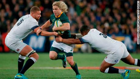 South Africa scrumhalf Faf de Klerk was named man of the match against England.