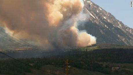 Badger Creek Fire Grows Rapidly