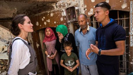 UNHCR Special Envoy Angelina Jolie meets