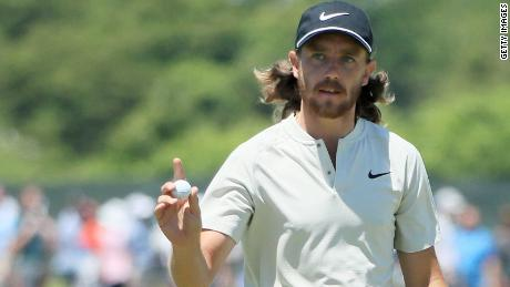 Runner-up Tommy Fleetwood shot 63 to equal the US Open scoring record.