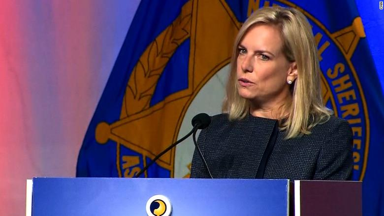 DHS Secretary Kirstjen Nielsen briefs from White House