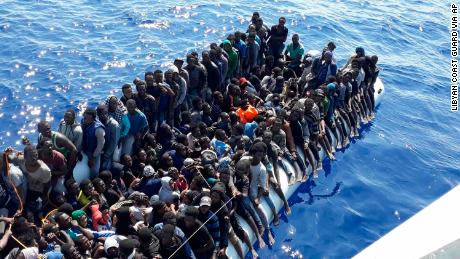 100 migrants feared dead after boat capsizes off Libyan coast