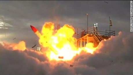 Fiery Explosion After Private Firm's Rocket Fails to Take Off